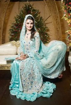 Blue Wedding Gowns | Walima-Sky-Blue-Dresses-For-Brides-8-