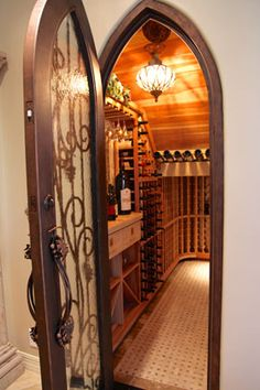 Closet turned into wine cellar!