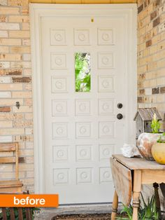 Before & After: Turquoise Front Door | In Between Laundry, via Apartment Therapy