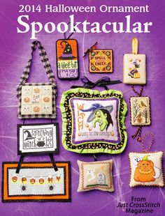 2014 Halloween Ornament Spooktacular from the Sep/Oct 2014 issue of Just CrossStitch Magazine. Order a digital copy here: http://www.anniescatalog.com/detail.html?code=AM53354