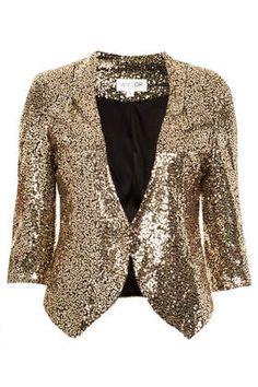 **Gold Sequin Blazer by WYLDR - Topshop #DearTopshop