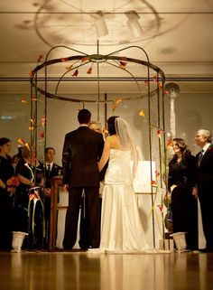 Wire Inspired Chuppah