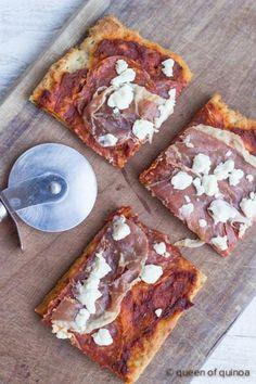 Best Gluten-Free Pizza Crust via @Alyssa   Queen of Quinoa   #glutenfree