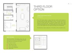 2100 Series has the same floor options for the first and second floor as the 1700 series, but includes a third floor Master Suite.