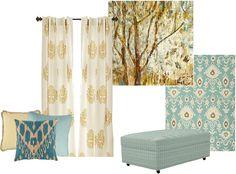 Turquoise & gray, Ballard Designs