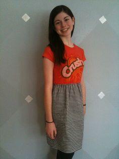 busi idea, tshirt dress, craft idea, sew craft