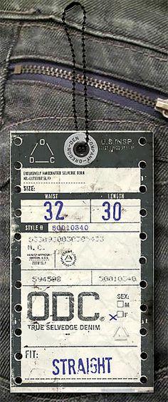 Hang tag / jeans