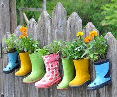 #DIY Little boots garden