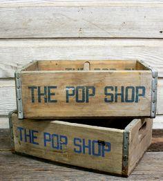decor, shops, vintag wood, vintage wood, aurora, wood pop, wooden crates, wood crates, thing