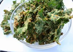 "Nacho ""Cheese"" Kale Chips (Dairy, Gluten and MSG Free)"