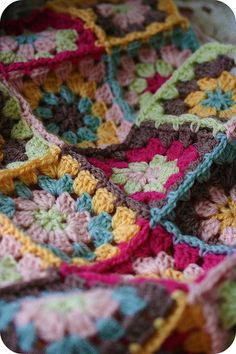 granny square crochet color love