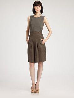 Two Tone Cotton Dress by Akris #Dress #akris