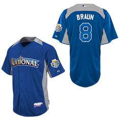 Did you seen #Brewers' own Ryan Braun kill it at the All-Star Game yesterday? Then might I interest you in a Braun National League ASG jersey? It's even in that retro Brew Crew Blue!