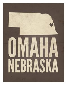 "Omaha, Nebraska Love Print, 11"" x 14""."
