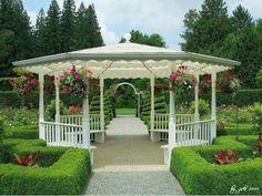 gazebo garden, gazebo idea, pretti gazebo, landscap, gazebo beauti, garden hous, outdoor, peaceful places, flower