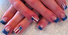 Red White & Blue by crystal_marie - Nail Art Gallery nailartgallery.nailsmag.com by Nails Magazine www.nailsmag.com #nailart