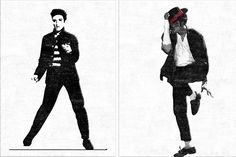 Two rock and roll #rugs.  #elvis and #michaeljackson