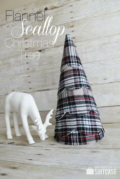Flannel Scallop Christmas Tree