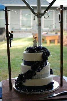 Lineman wedding cake