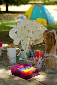 Coloring activities at a princess party #princess #partyactivities