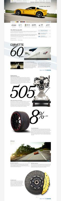 chevy.com by Lauren Totman, via #Behance #webdesign corvett, behanc webdesign
