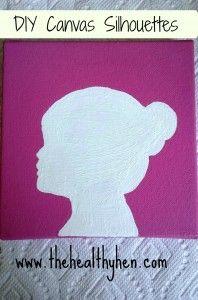 DIY Canvas Silhouett
