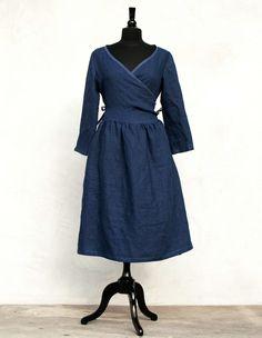 Linen wrap dress pattern and tutorial