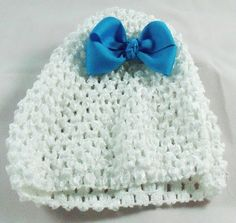 Infant hat with 3 in solid tropical blue hair by BowtisticDreams
