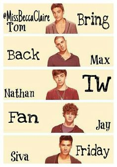#GiveUsItBack The Wanted  TW Fan Friday