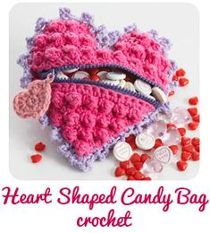 Heart Shaped Candy Bag (to crochet) Pattern