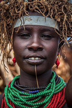 Africa | Portrait of a Dassanech girl. Omo Valley, Ethiopia | © Anthony Pappone