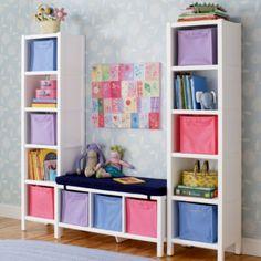bench, bookcas, kid rooms, kid stuff, toy storage