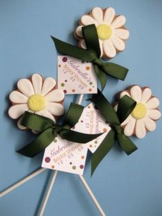 Daisy Cookie Pops