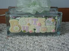 Cute as a button glass block night light by teresaphillips on Etsy, $28.00
