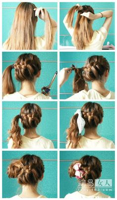 Step-by-step hairstyles! on Pinterest | Ballet Buns, Fishtail Braids ...