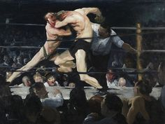 George Bellows, Stag at Sharkeys, 1909