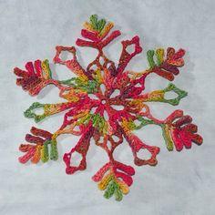crochet snowflake pattern by snowcatcher