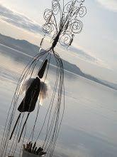 baling wire sculpture for the garden Gundam - Playing Around. . .