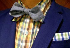 Trovata shirt- JCrew bowtie - Carven jacket- Brooks Brothers pocket square