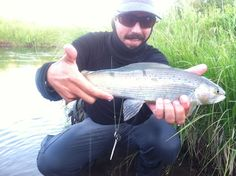 Jake with a beaut of a Grayling. Places unknown in Montana - maybe....