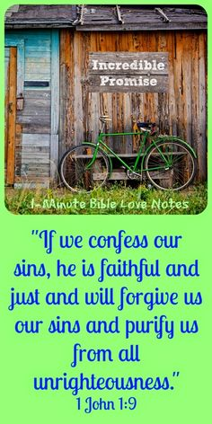Do we understand the incredible strength and effects of God's promise to forgive us? We show our understanding by sincere repentance of sin. ~ Click image and when it enlarges, click again to read this 1-minute devotion.