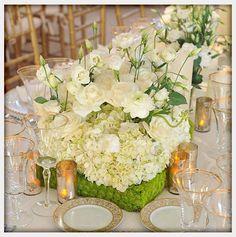 Beautiful white flower centerpiece.