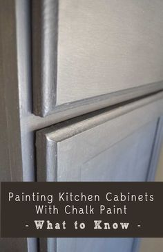 What to Know About Painting Kitchen Cabinets With Chalk | http://your-kitchen-stuffs-collections.blogspot.com