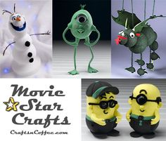 How to make the characters from your favorite movies! CraftsnCoffee.com