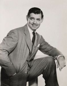 clark gable. handsome guy!!