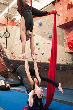 """Yoga Poses Around the World: """"Aerial Tittibhasana"""""""