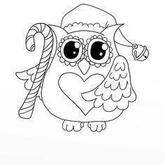 coloring drawing tracing on pinterest coloring pages  dover publica Owl Coloring Pages Christmas Color by Number  Christmas Owl Coloring Page
