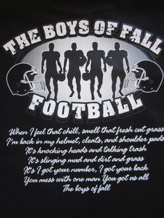 Unisex The Boys of Fall Football T-Shirt Available in S,M,L,XL