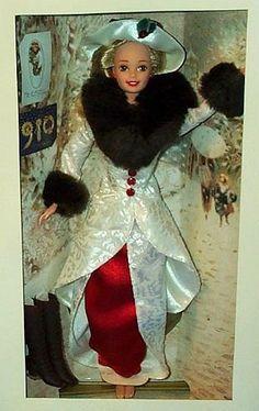 """Hallmark Barbie Holiday Memories 12"""" Doll by Mattel, 1995"""