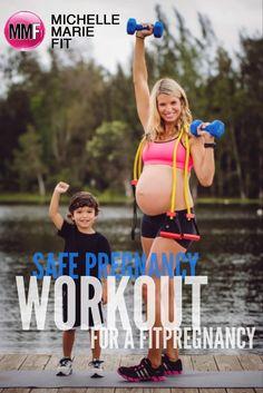 Safe Pregnancy Workout For A Fit Pregnancy.  #Pregnancy #Workout and #Core pregnancy tips.